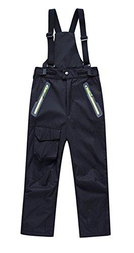 LANBAOSI Boys Girls Thick Fleece Lining Windproof Insulated Bib Overalls Snow Pants