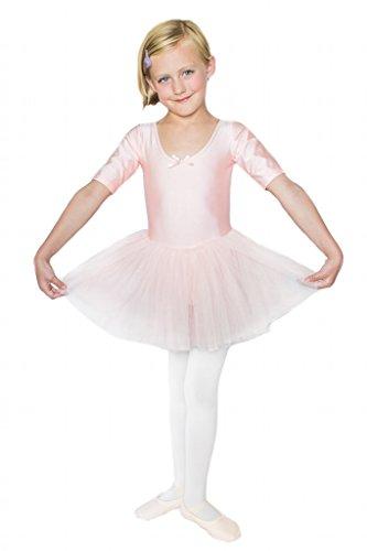 STELLE Girls' Cute Tutu Dance Dress Ballet Leotard Dress (S, Ballet Pink)