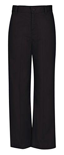CLASSROOM Big Girls'  Adj. Waist Flat Front Trouser, Black, 12