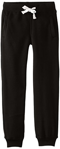 Southpole Big Boys' Boys Active Basic Jogger Fleece Pants, Black, Small