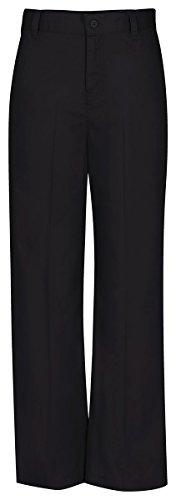 CLASSROOM Big Girls'  Plus-Size Plus Flat Front Trouser Pant, Black, 16 1/2