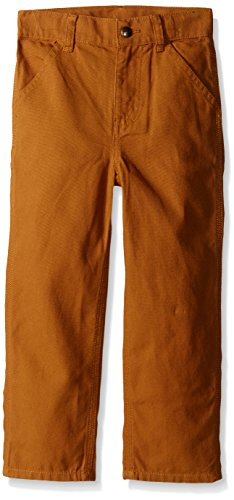 Carhartt Little Boys' Washed Dungaree Pant,Carhartt Brown,6