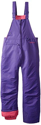 Arctix Insulated Youth Snow Bib Overalls, Purple, Medium