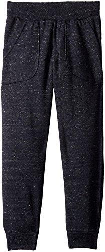 Nine Threads Big Boys' Melange Fleece Pull On Pant, Navy, 10/12