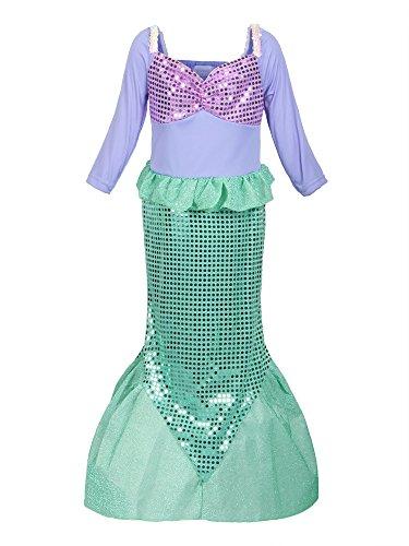 ReliBeauty Girls Sequins Little Mermaid Costume 3T