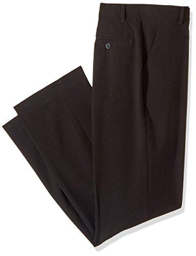 Calvin Klein Boys' Flat Front Pant, Black, 12