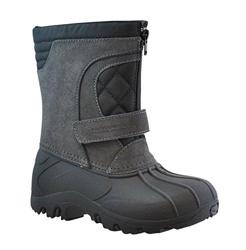 Weatherproof Boy's Snow Boot,GREY,4 Big Kid