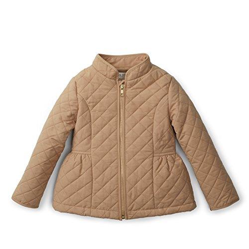 Hope & Henry Girls' Khaki Quilted Barn Jacket, Large (7-8 years)