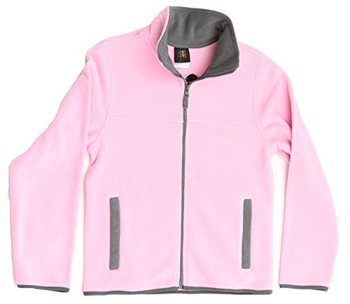 Just Love 98503-PNK-7/8 Solid Polar Fleece Girls Jacket