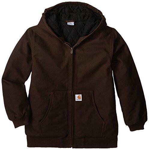Carhartt Big Boys' Active Jacket, Mustang Brown, M(10-12)