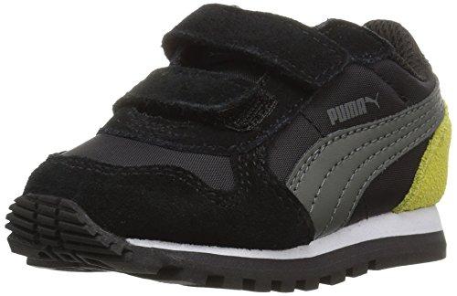 PUMA Unisex-Kids ST Runner NL V Sneaker, Black-Dark Shadow, 13.5 M US Little Kid