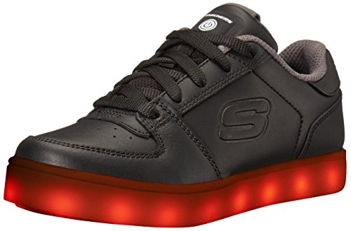 Skechers Kids Boys Energy Lights Elate Sneaker, Black, 7 M US Big Kid