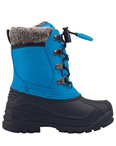 Oakiwear Childs Winter Snow Boots, Celestial Blue, 4Y US Big Kid