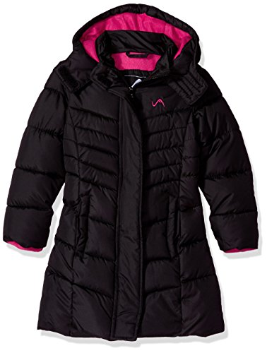 Vertical 9 Little Girls' Bubble Jacket (More Styles Available), V300-Black, 5/6