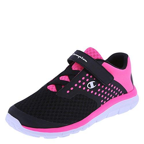 Champion Girls' Black Pink Mesh Girls' Gusto Strap Cross Trainer 2 Regular