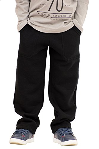 Pulla Bulla Little Boys' Sweatpants Fleece Pants Size 5 Black