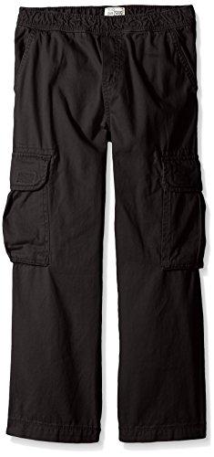 The Children's Place Big Boys' Husky Pull-On Cargo Pant, Black, 12 Husky