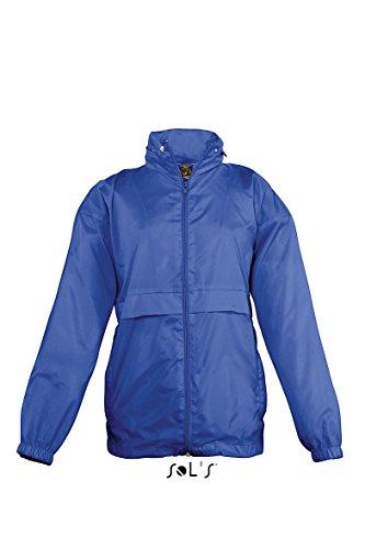 SOLS Kids Unisex Surf Windbreaker Jacket (Water Resistant And Windproof) (9-11 Years) (Royal Blue)