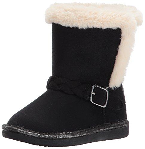 OshKosh B'Gosh Girls' Missy Sherpa Fashion Boot, Black, 12 M US Little Kid