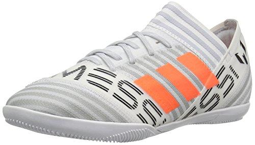 adidas Performance Boys' Nemeziz Messi Tango 17.3 In J Soccer Shoe, White/Solar Orange/Black, 3 Medium US Little Kid