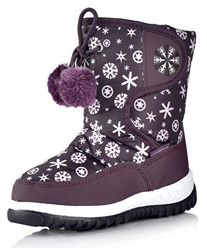 Nova Mountain Little Kid's Winter Snow Boots,NF NFWB737 Purple 11