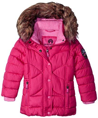 Weatherproof Big Girls' Outerwear Jacket (More Styles Available), Rainbow Stitch-WG149-Fuchsia, 14/16