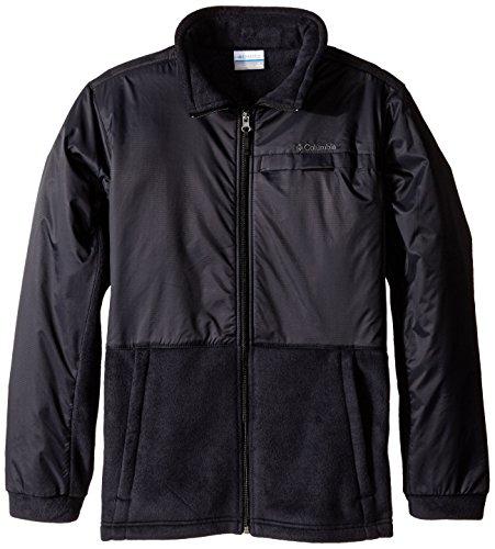 Columbia Big Boys' Steens MT Overlay Fleece Jacket, Black, Large