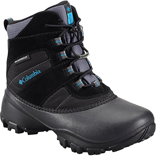 Columbia Youth Rope Tow I Waterproof Winter Boot (Little Kid/Big Kid), Black/Dark Compass, 6 M US Big Kid