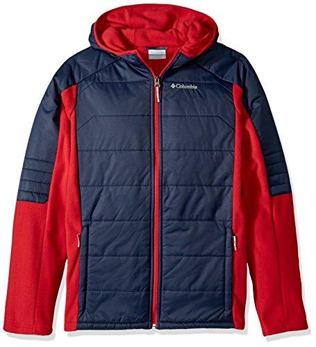 Columbia Little Boys' Fast Trek Hybrid Jacket, Mountain Red, Collegiate Navy, Small