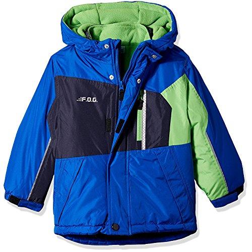 London Fog Big Boys' 4-in-1 System Jacket Winter Coat, Blue/Green, 14/16