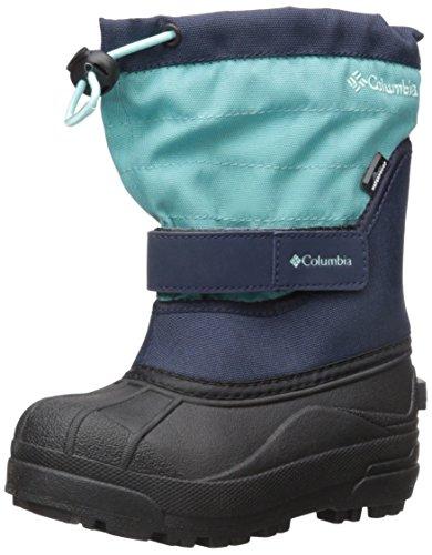Columbia Girls' Childrens Powderbug Plus II Snow Boot, Pacific Rim, Spray, 13 M US Little Kid