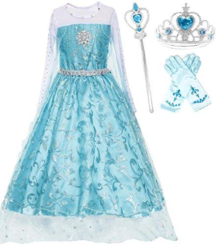 Ice Queen Glitter Princess Dress (4-5)