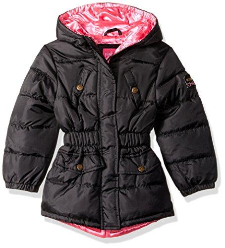 Pink Platinum Big Girls' Pop Anorak Jacket, Black, 7/8