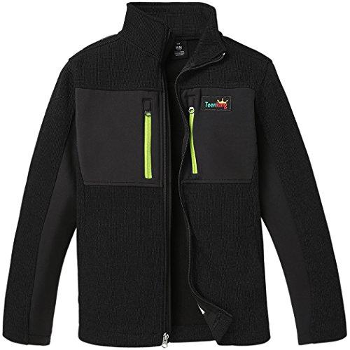 Teenking Boy's Fleece Outdoor Jacket Big Boy(Size 10/12)