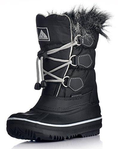 Nova Mountain Little Kid's Winter Snow Boots,NF NFWB812 Black 1