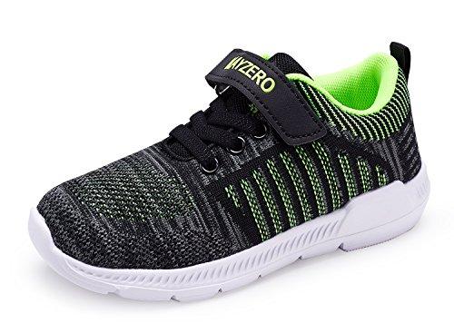 Vivay Kids Lightweight Sneakers Boys Girls Breathable Easy Walk Velcro Sport Running Tennis Shoes