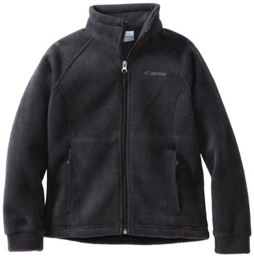 Columbia Big Girls' Benton Springs Fleece Jacket, Black, Medium (10/12)