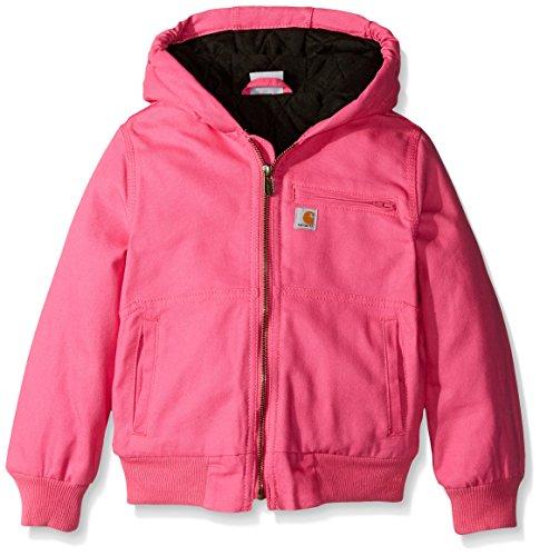 Carhartt Big Girls' Wildwood Jacket Quilt Lined, Raspberry Rose, Small/7/8