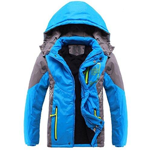 Ausom Fashion 2017 Winter Latest Boys Thicken Fleece Hooded Jacket Autumn
