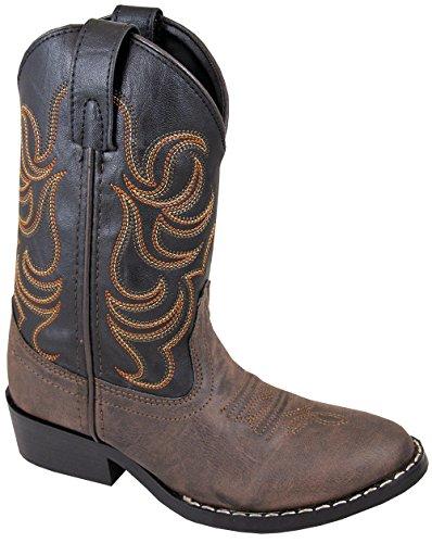 Smoky Mountain Children Boys Monterey Western Cowboy Boots Brown/Black, 13M
