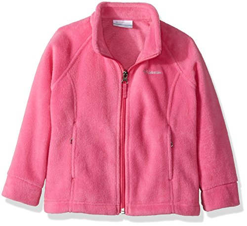Columbia Little Girls' Benton Springs Fleece Jacket, Pink Ice, X-Small