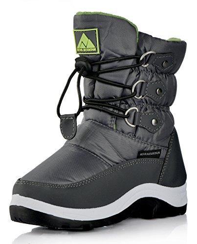 Nova Mountain Little Kid's Winter Snow Boots,NF NFWB112 GreyGreen 13